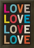 Love (Colorful) Art Poster Print