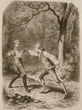 Comment deux amis deviennent ennemis (Duel between Philippe de Taverney and Charny)