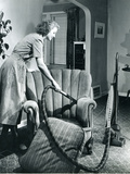 Homemaker Vacuuming  USA  1950