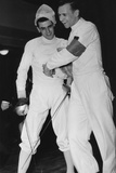 Fencing Bout in Bonn  November 26  1950