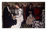 L'Ouverture de Tannhäuser (Girl at the piano; Tannhäuser-Ouverture)  c1867-68