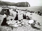 The Beach at Etretat  C1900