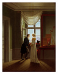Paar am Fenster (Couple at the Window)  1817