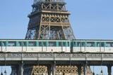 Eiffel Tower and Métro  Paris  France