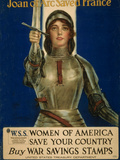 Joan of Arc Saved France  Women of America Save Your Country  WWI Poster