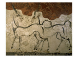 Two Antilopes  Minoan Fresco