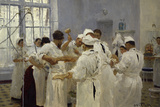 The Surgeon JWPavlov in the Operating Theatre  1888