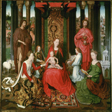St Mary with the Child and the Saints John the Baptist  John the Evangelist  Catherine  Barbara