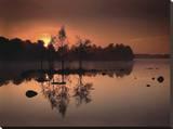 Au bord du lac Tableau sur toile