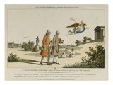 Genius leads Voltaire and Rousseau to the Temple of Glory and Immortality  Early C19th