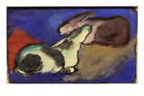 Two Sleeping Rabbits  1913