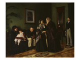 In the Waiting Room at the Doctor  1870