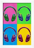 Headphones Pop Art Poster