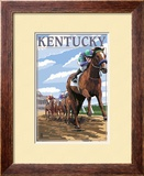 Kentucky - Horse Racing Track Scene