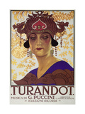 Title Page of Score of Turandot  Opera by Giacomo Puccini