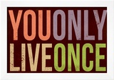 You Only Live Once Art Print Poster