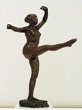 Danseuse  Position De Quatrième Devant Sur La Jambe Gauche