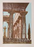 Temple at Paestrum III Reproductions de collection premium par Rudy Pozzatti