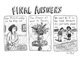 Final Answers - New Yorker Cartoon