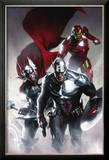 Secret Invasion 6 Cover: Captain America  Thor and Iron Man
