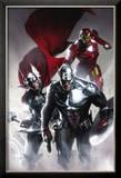Secret Invasion 6 Cover: Captain America  Thor and Iron Man
