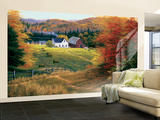 Golden Countryside Huge Mural Art Print Poster