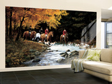 Hunt Scene Huge Mural Art Print Poster