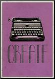 Create Retro Typewriter Player Art Poster Print