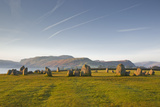 Castlerigg Stone Circle at Dawn in the Lake District National Park  Cumbria  England  UK