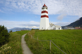 Alnes Lighthouse  Godoya  Near Alesund  More Og Romsdal  Norway  Scandinavia  Europe