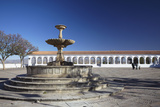 Fountain in Plaza Anzures  Sucre  UNESCO World Heritage Site  Bolivia  South America