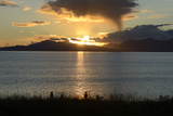 Sunset over Ardmucknish Bay with Lismore in the Background  Highland  Scotland  United Kingdom