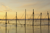 Salmon Fishing Nets  Solway Firth  Near Creetown  Dumfries and Galloway  Scotland  United Kingdom