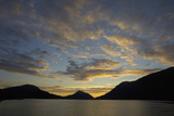 Sunset over Orstafjorden  Orsta  More Og Romsdal  Norway  Scandinavia  Europe