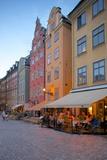 Stortorget Square Cafes at Dusk  Gamla Stan  Stockholm  Sweden  Scandinavia  Europe