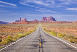 Empty Road  Highway 163  Monument Valley  Utah  United States of America  North America