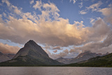 Mount Grinnell and Swiftcurrent Lake at Dawn  Glacier National Park  Montana  USA