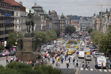 Wenceslas Square and St Wenceslas Statue  Prague  Czech Republic  Europe