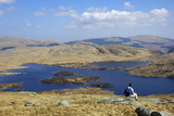 Loch Enoch from Merrick  Galloway Hills  Dumfries and Galloway  Scotland  United Kingdom  Europe