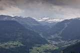 The Snow Capped Mountains of the Haute-Savoie Near to Les Saisies  Haute-Savoie  France  Europe