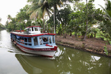Ferry Boat Travelling on the Kerala Backwaters  Kerala  India  Asia