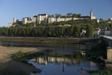 Chateau and River Vienne  Chinon  Indre-Et-Loire  Touraine  France  Europe