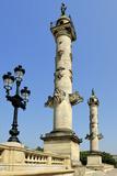 Rostrale Columns  Esplanade Des Quinconces  Bordeaux  UNESCO Site  Gironde  Aquitaine  France