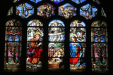Stained Glass Window Depicting the Nativity  St Eustache Church  Paris  France  Europe