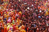 Holi Celebration in Dauji Temple  Dauji  Uttar Pradesh  India  Asia