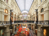 Interior of the Gum Shopping Centre on Red Square  Moscow  Russia  Europe