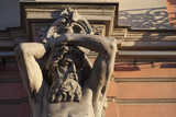 Statue on the Beloselskiy Palace on Nevskiy Prospekt  St Petersburg  Russia  Europe