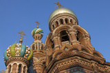Looking Up at the Domes of the Church on Spilled Blood  UNESCO Site  St Petersburg  Russia