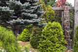 Totem  Garden at Auclair  Bas Saint-Laurent Region  Quebec Province  Canada  North America