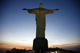The Statue of Christ the Redeemer on Top of the Corcovado Mountain  Rio de Janeiro  Brazil